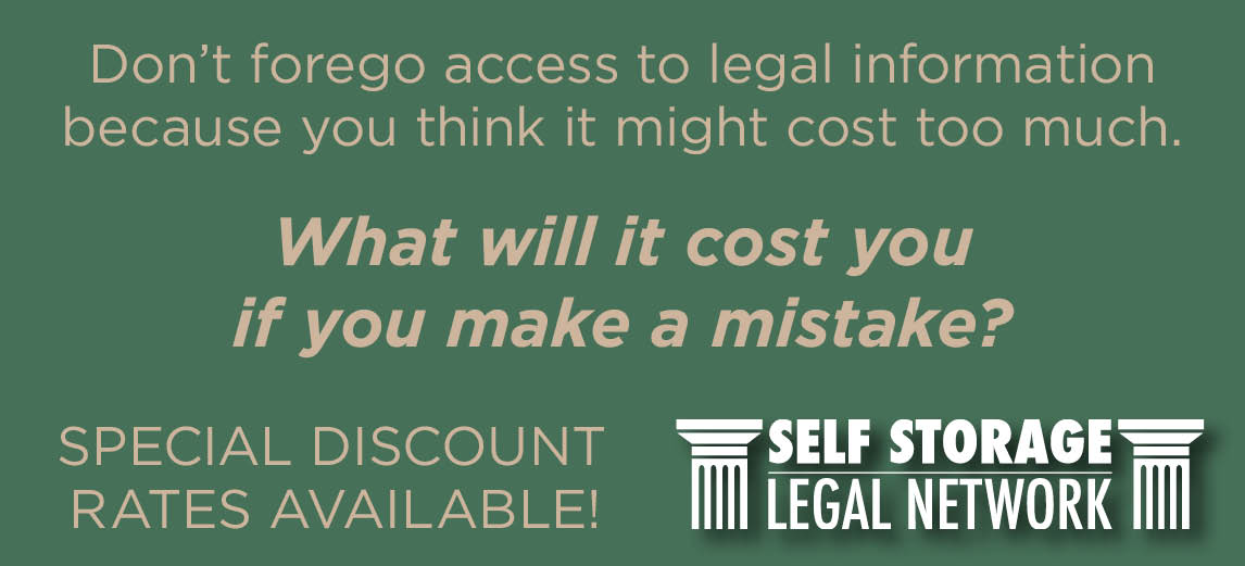 Self Storage Legal Network - Special Discount Rates Available